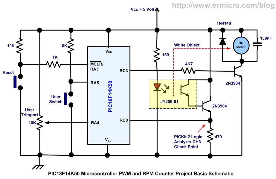 Pwm Regulace Dc Motoru S Ot 225 čkoměrem Mcu Mikroelektronika
