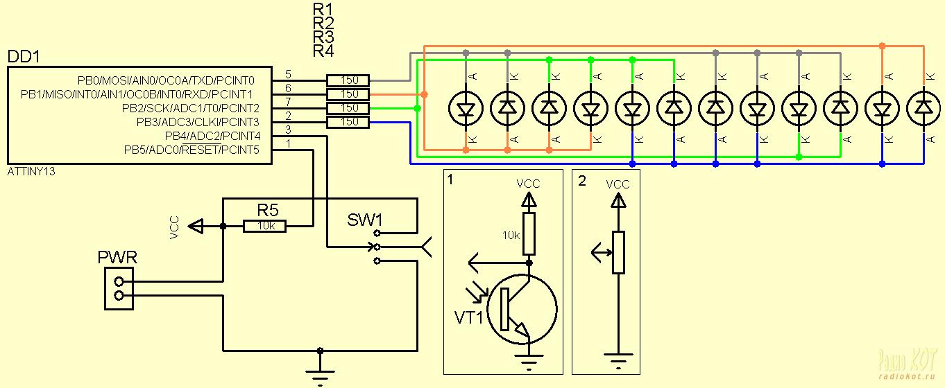Как сделать схему из светодиодов 884